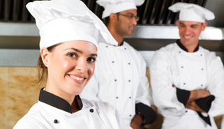 These young cooks are working on their culinary skills at a great restaurant
